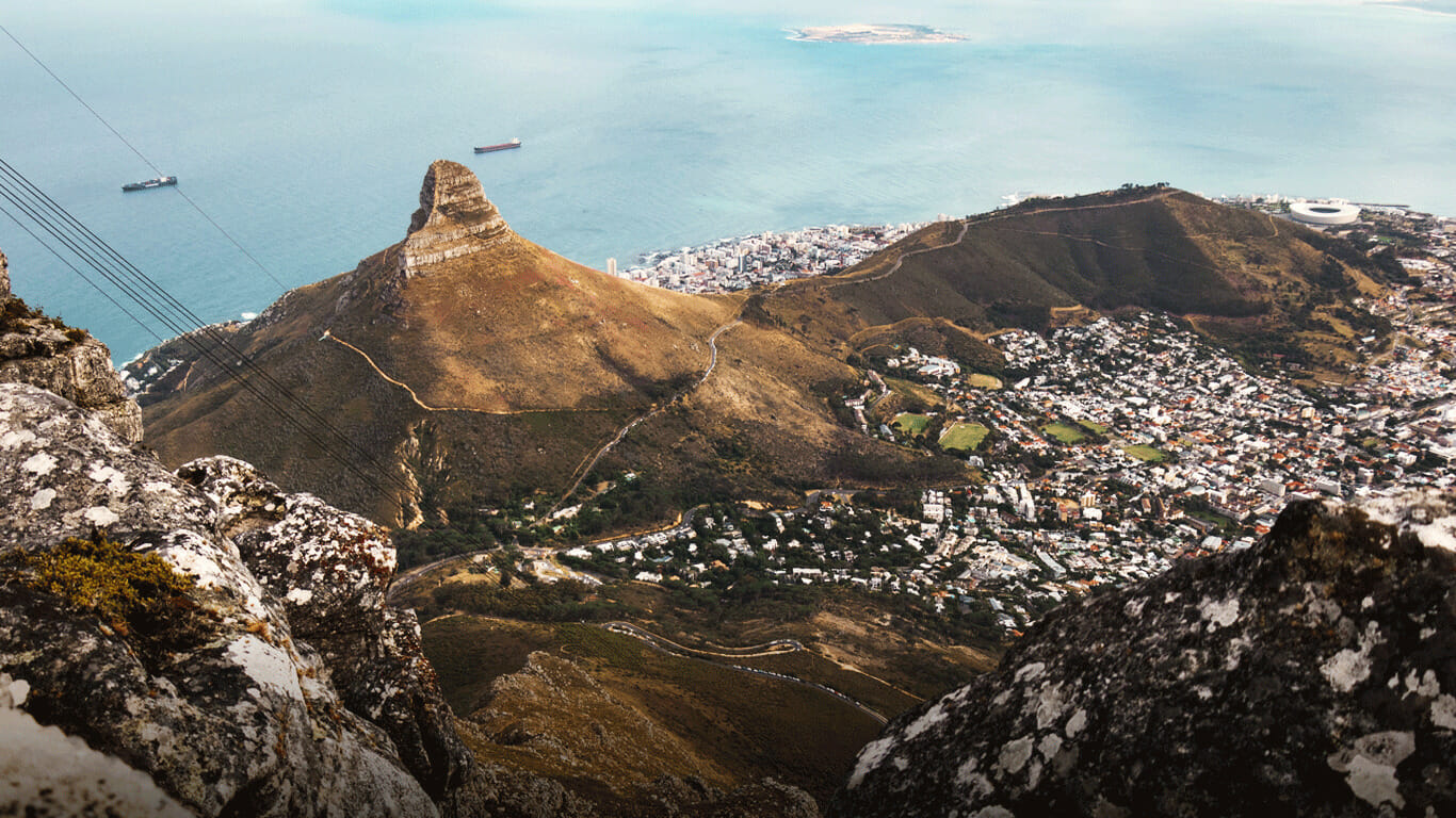 'View from Table Mountain Cape Town'